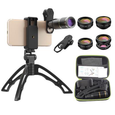 MotionTech スマートフォン用レンズセット 6種類 専用ケース付き MT-AP016