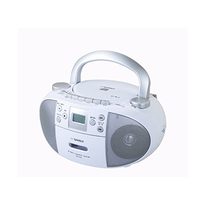 SANSUI CDラジカセ CDプレーヤー ラジオ シンプル操作 MS-CD3