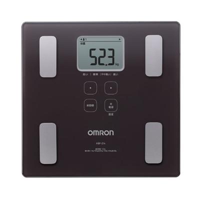 オムロン 体重体組成計 カラダスキャン ブラウン HBF-214-BW
